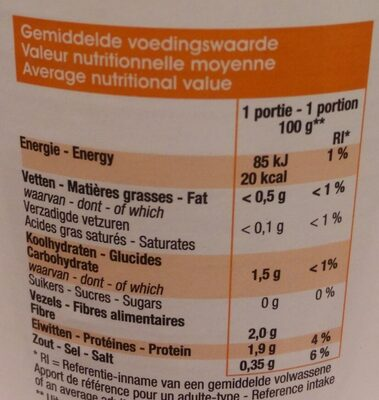 Champignons de Paris - Nutrition facts