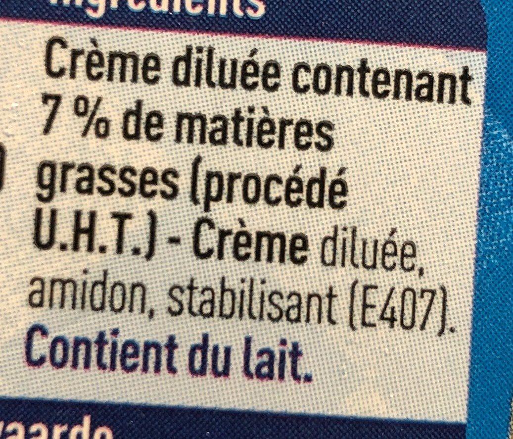 Crème extra légère - Ingrediënten