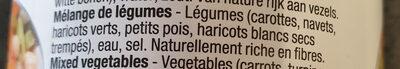 Mélange de légumes - Ingredients
