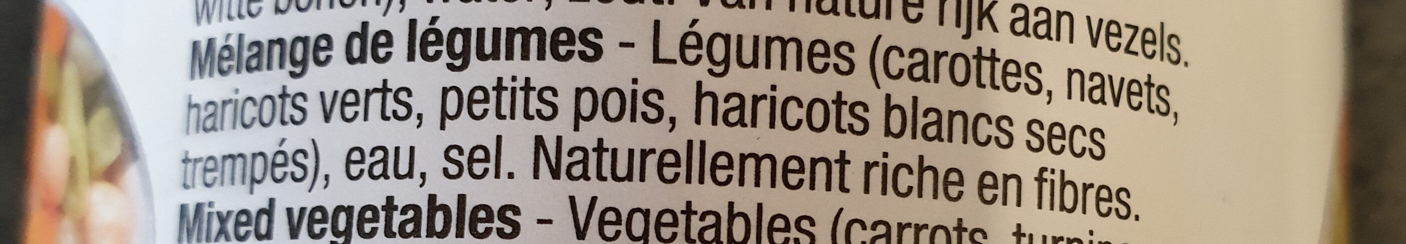 Mélange de légumes - Ingrediënten - fr