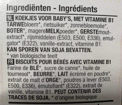 Biscuits pour bébés - Ingrediënten - fr