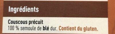 Couscous précuit - 成分 - fr