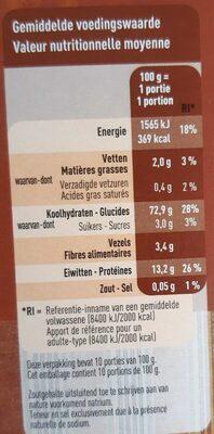 Couscous précuit - 营养成分 - fr