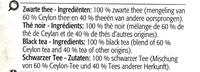 Sachets de the - the noir melange de ceyan - Ingredients - fr