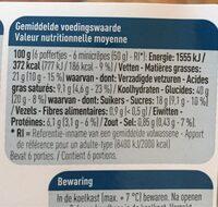 Minicrepes au sucre en poudre - Voedigswaarden