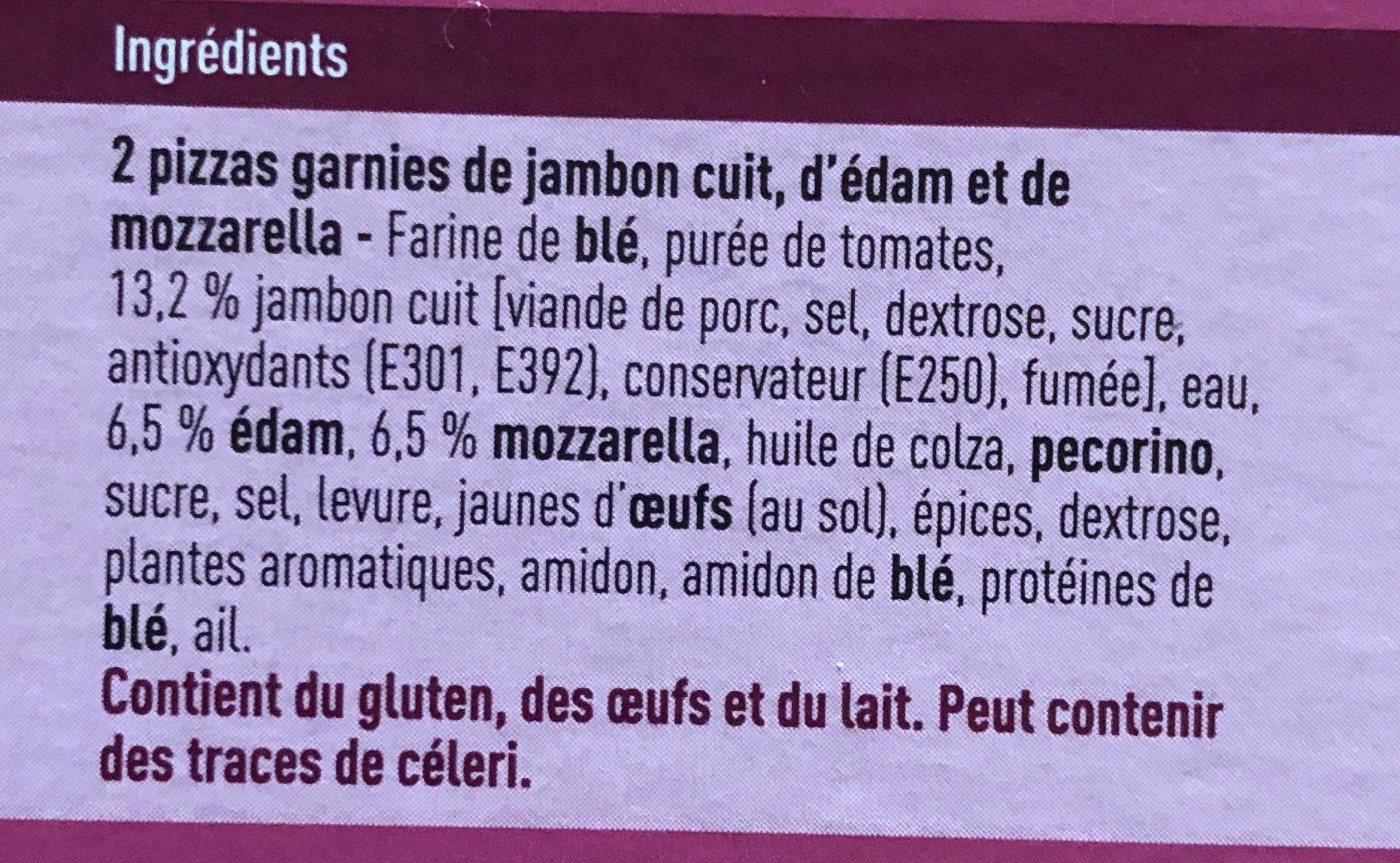 Pizza Proscuitto - Ingrediënten - fr