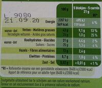 Bio chocolat Noir aux éclats de noisettes - Voedingswaarden - fr