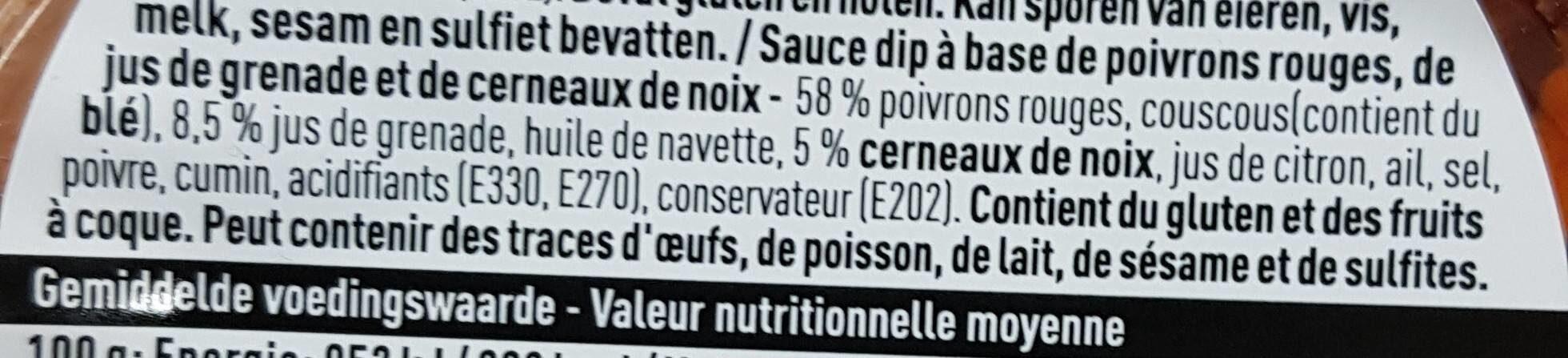Muhammara - Ingrediënten - fr
