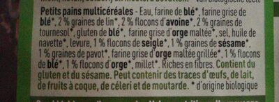 Petits pains multicereales - Ingrédients - fr