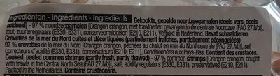 Crevette de la mer du nord - Ingrediënten - fr