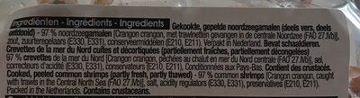Crevette de la mer du nord - Ingrediënten