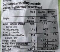 Flocons d'avoine bio - Nutrition facts - fr