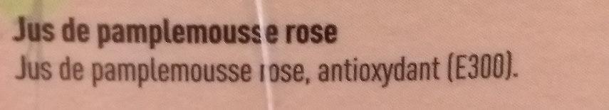 Jus de Pamplemousse rose Colruyt - Ingrediënten - fr