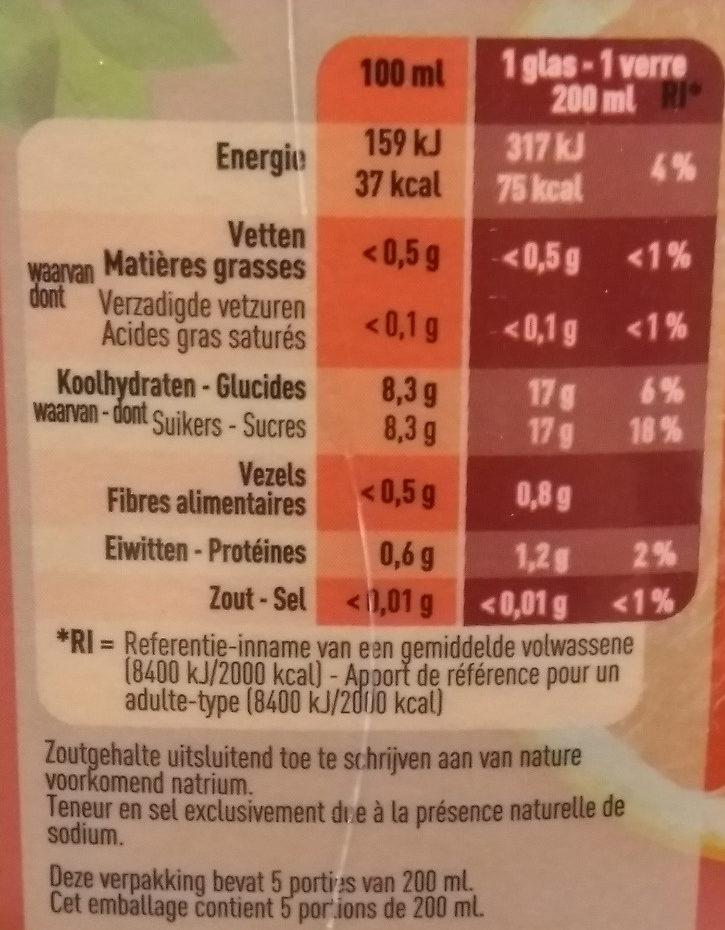 Jus de Pamplemousse rose Colruyt - Voedingswaarden - fr