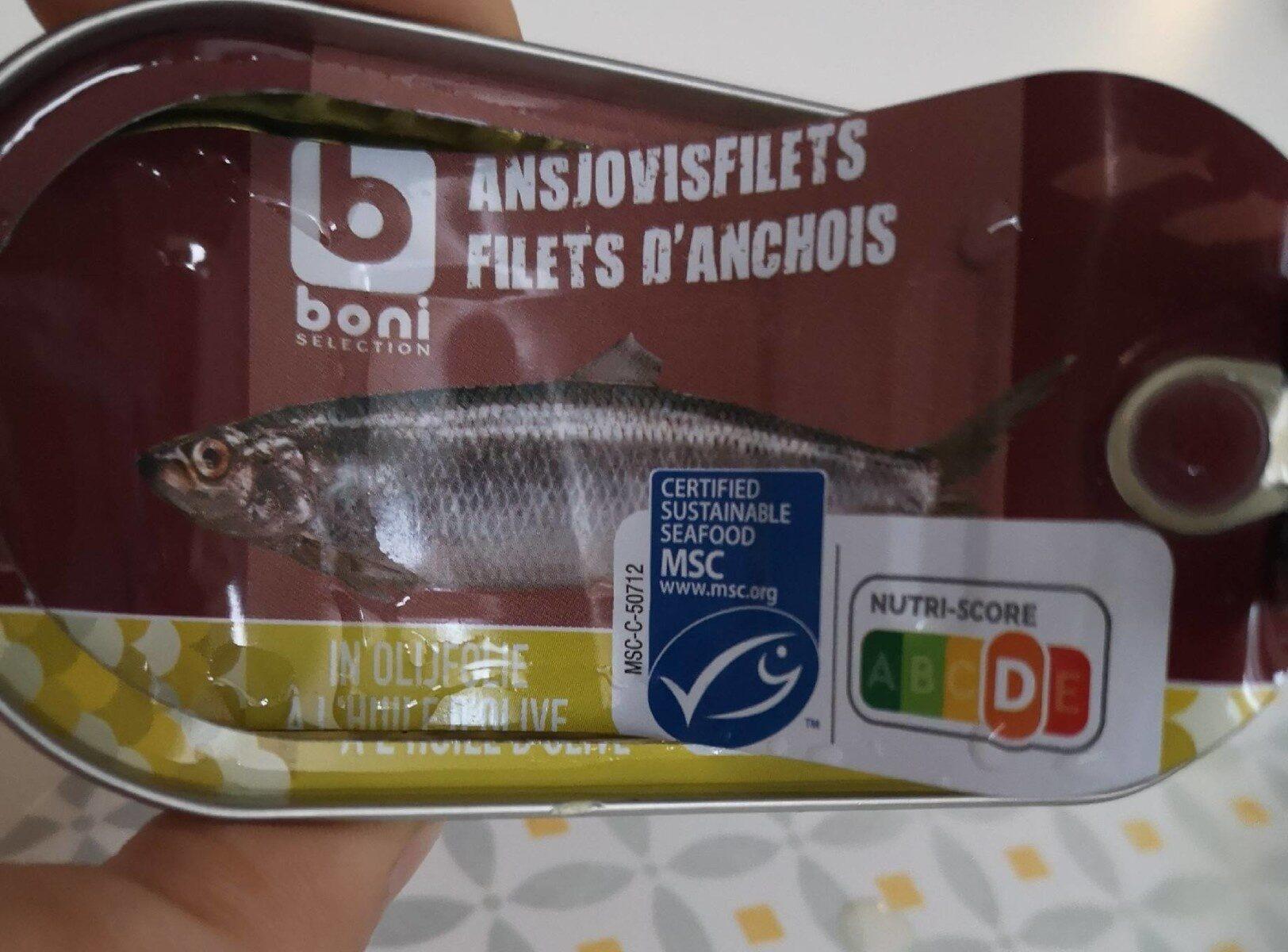 Filets d'anchois - Produit