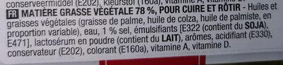 Matière grasse végétale Cuire et Rôtir - Ingrédients