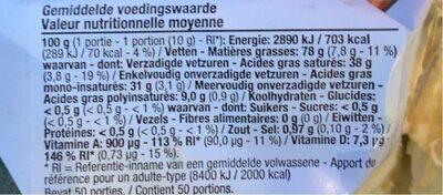 Beurre Cuire et Rôtir - Informations nutritionnelles - fr