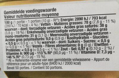 Matière grasse végétale Cuire et Rôtir - Informations nutritionnelles