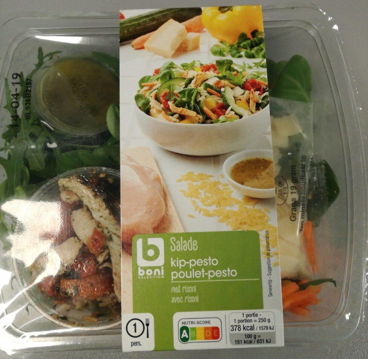 Salade poulet-pesto - Product