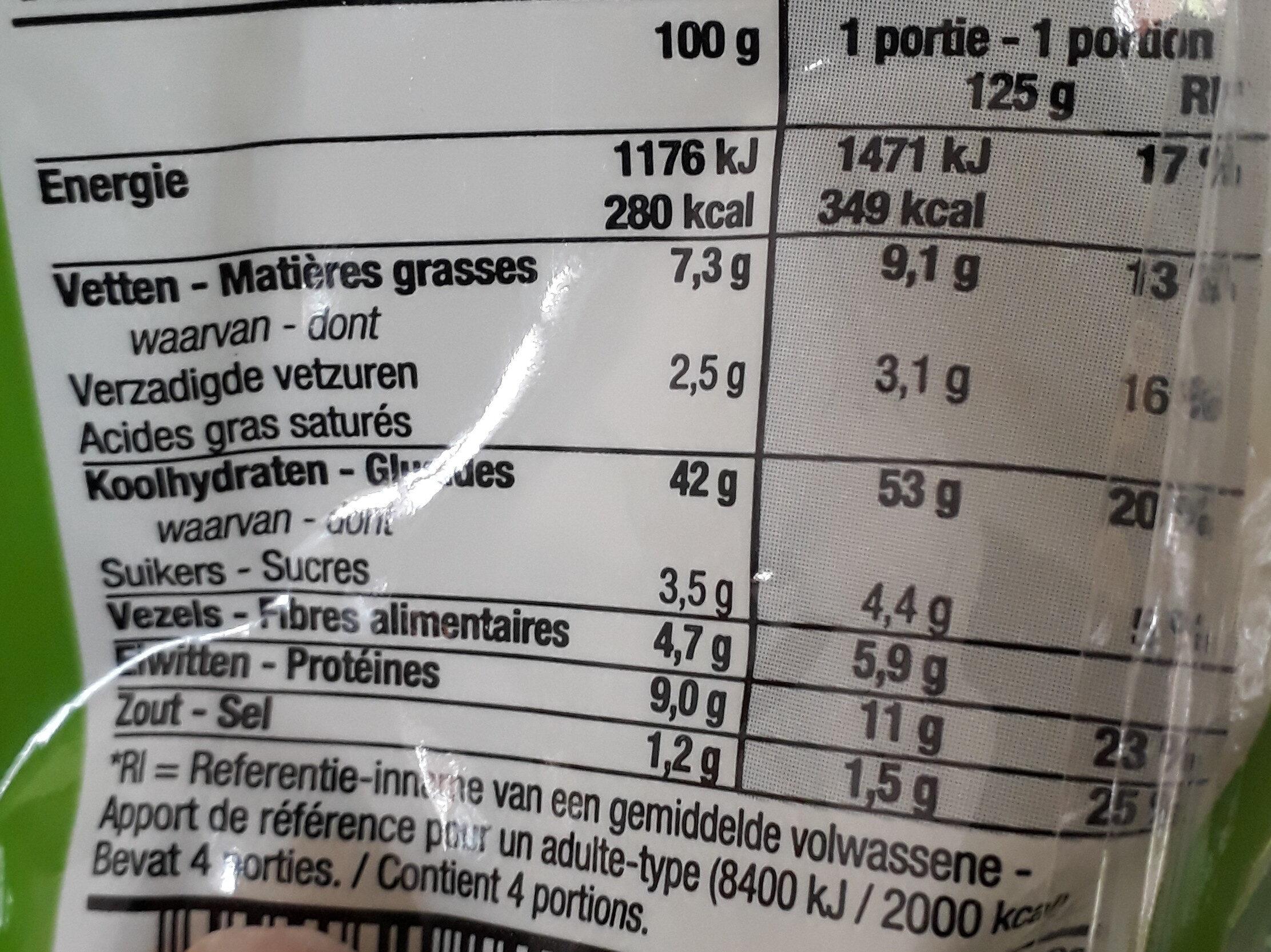 Tortellini ricotta epinards - Voedingswaarden - fr