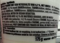 Yoghurt entier muesli nature - Ingrédients