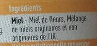 Boni miel - Ingrediënten - fr