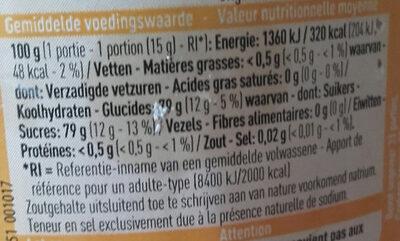 Boni miel - Voedingswaarden - fr