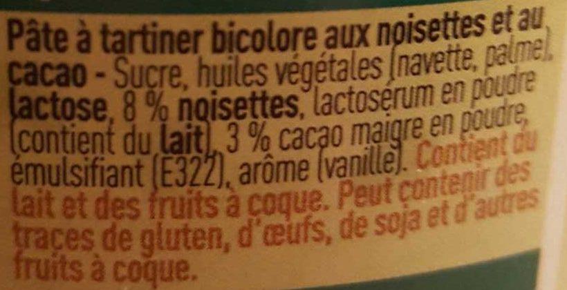 Pâte à Tartiner Duo aux Noisettes - Ingrediënten - fr