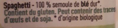 Spaghetti - Ingrediënten - fr