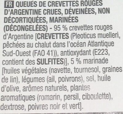 Brochettes de scampis sauvages d'Argentine marinés - Ingrediënten - fr