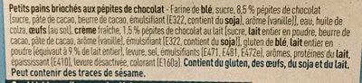 Petits Pains Briochés aux Pépites de Chocolat - Ingrediënten - fr