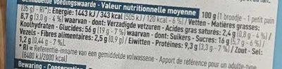 Petits Pains Briochés aux Pépites de Chocolat - Voedingswaarden - fr