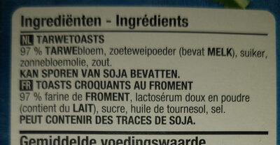 Toasts au froment - Ingrediënten - fr