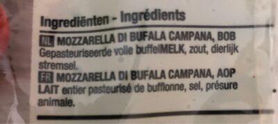 Mozzarella di Bufala - Ingrediënten