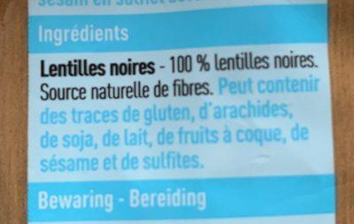 Lentilles noires - Ingrediënten - fr