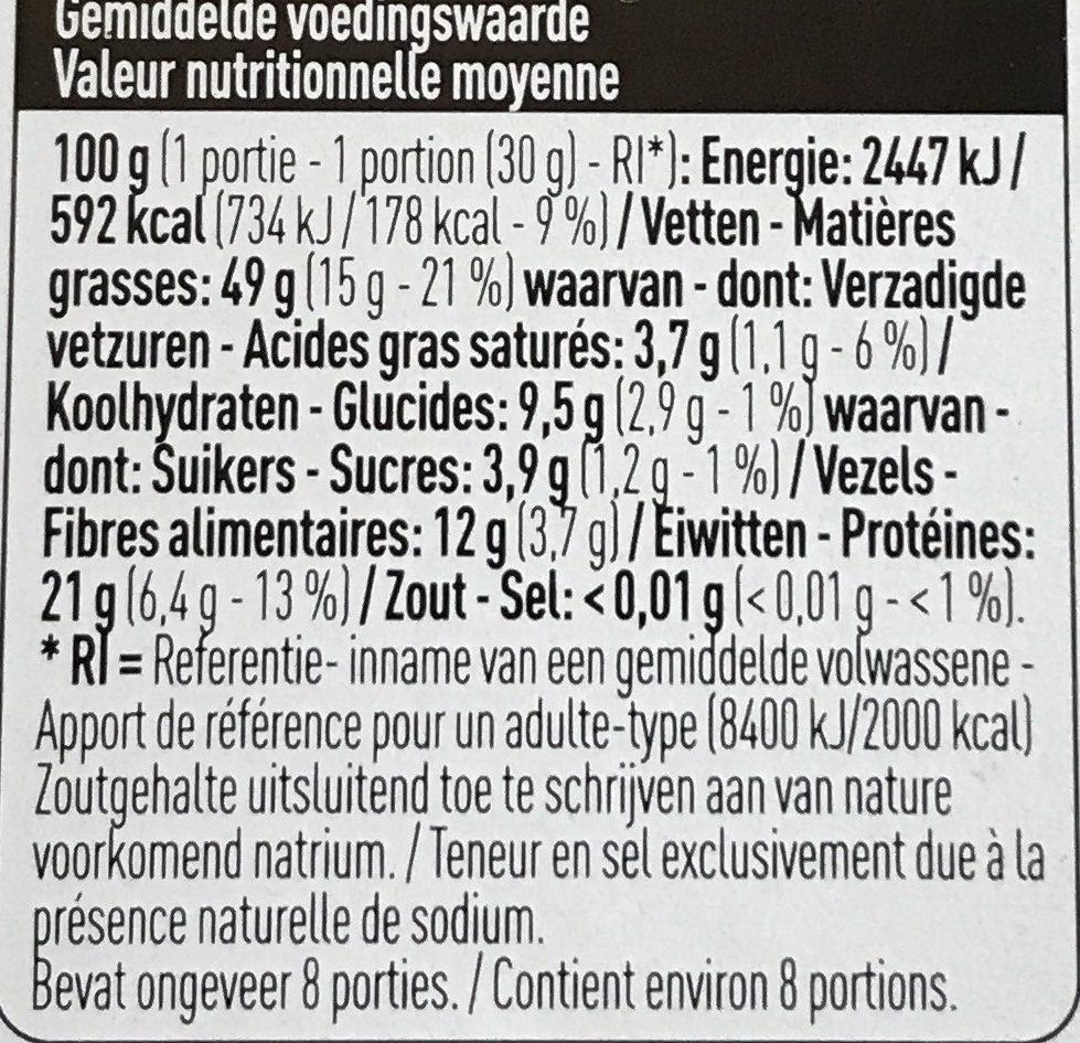 Amandes - Voedingswaarden - fr