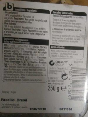 Noix du Brésil - Ingrediënten - fr