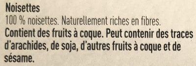 Noisettes - Ingredients - fr