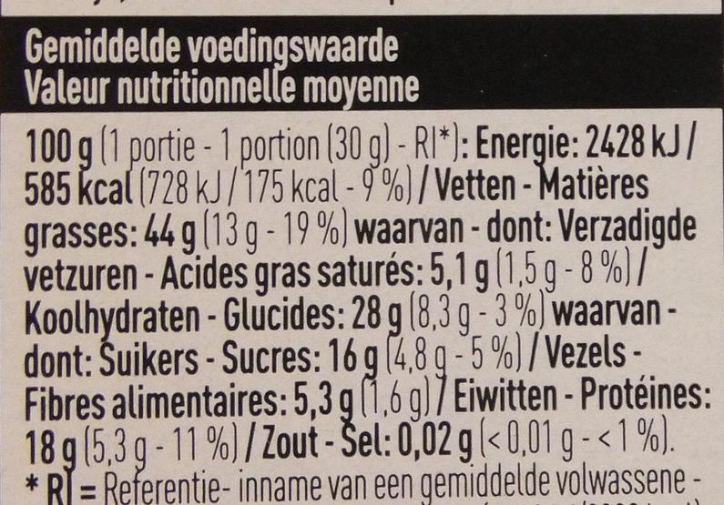 Mélange de noix pour salade - Voedingswaarden - fr