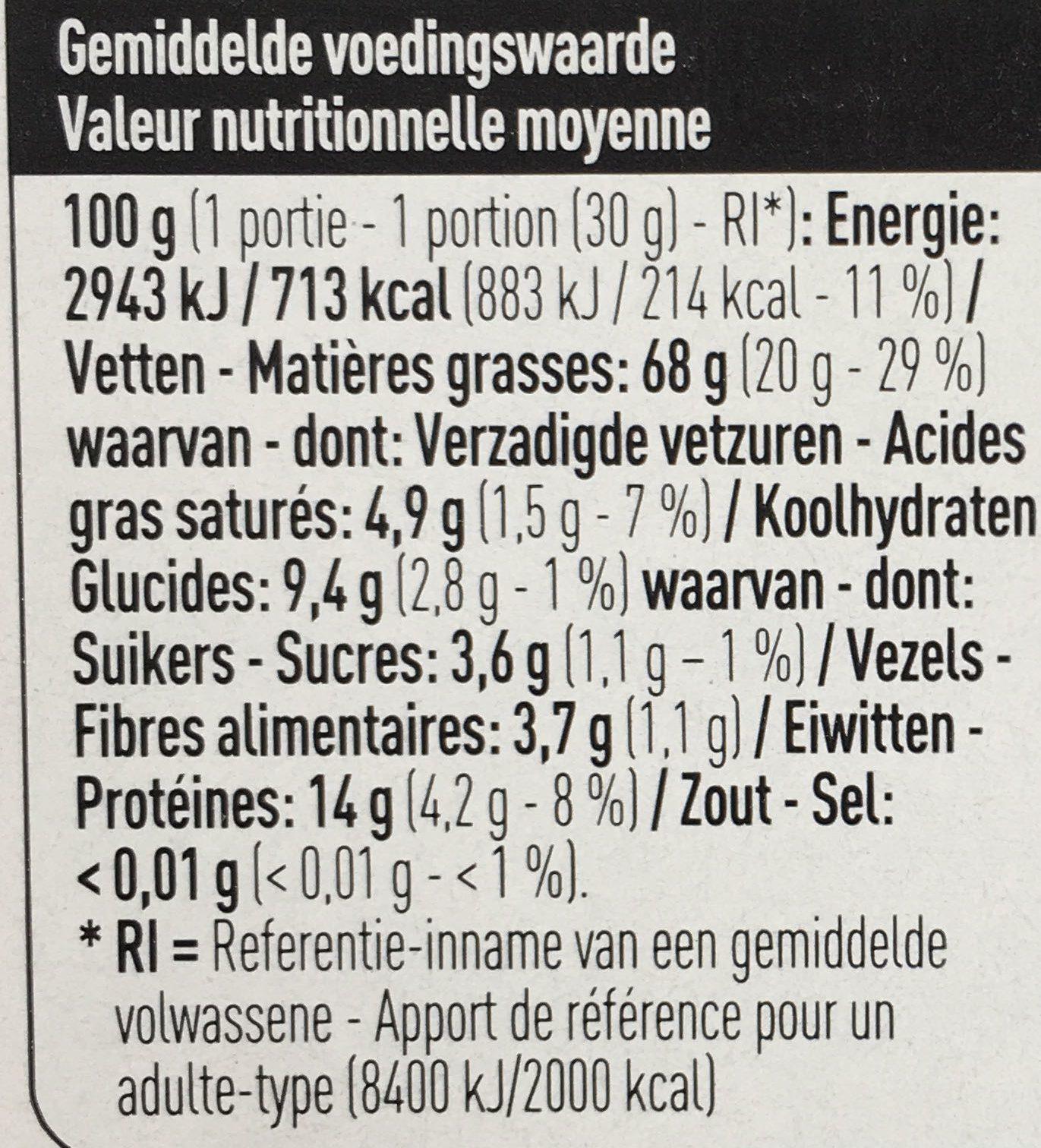 Pignons de pin - Voedingswaarden - fr