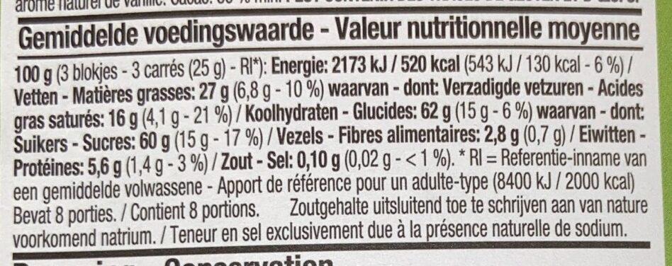 Bresilienne chocolat au lait - Voedingswaarden - fr