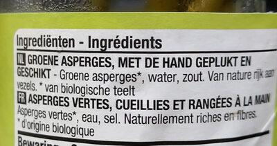 Groene asperges - Ingrédients - fr
