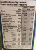 Cereal flakes au chocolat noir - Voedingswaarden - fr