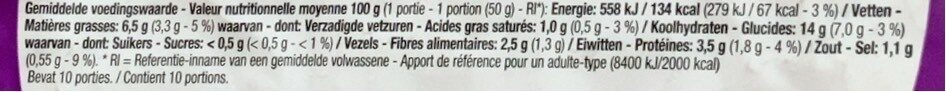 Tortilla - Voedingswaarden - fr