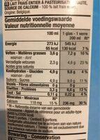 Lait Frais - Nutrition facts - fr