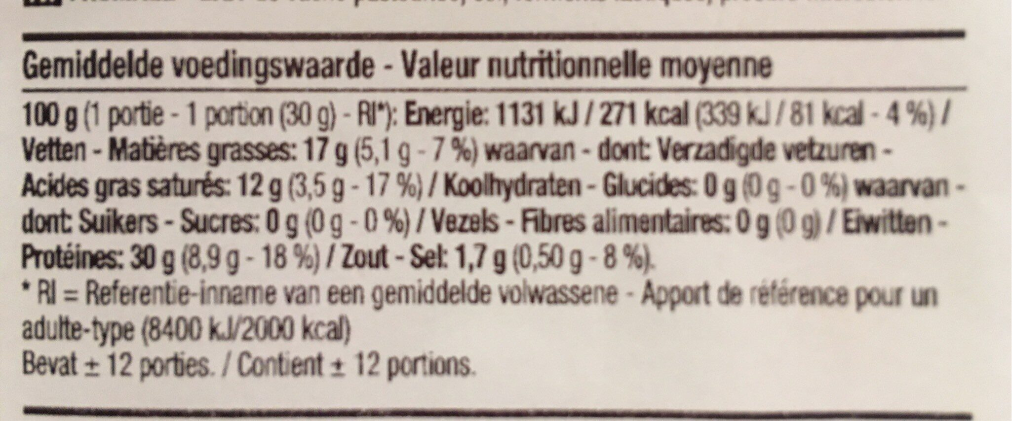 Leerdammer lightlife - Nutrition facts