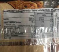 Speculoos - Nutrition facts - fr