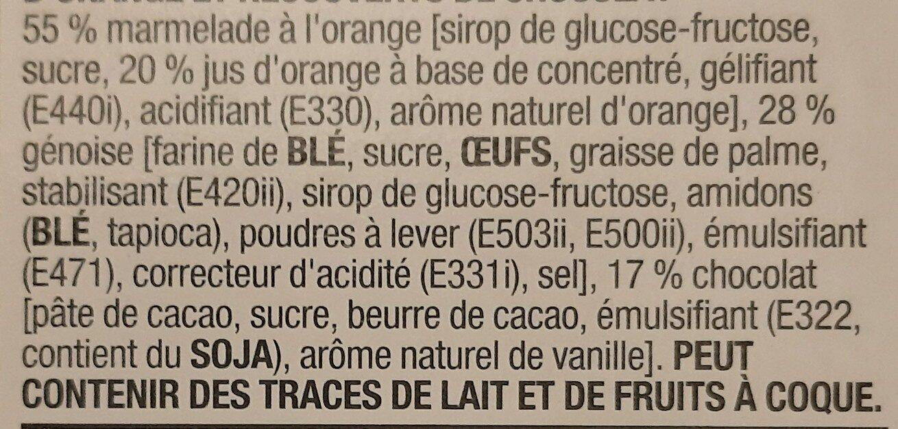 Orangicake - Ingrediënten - en