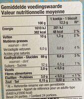 Orangicake - Voedingswaarden - en