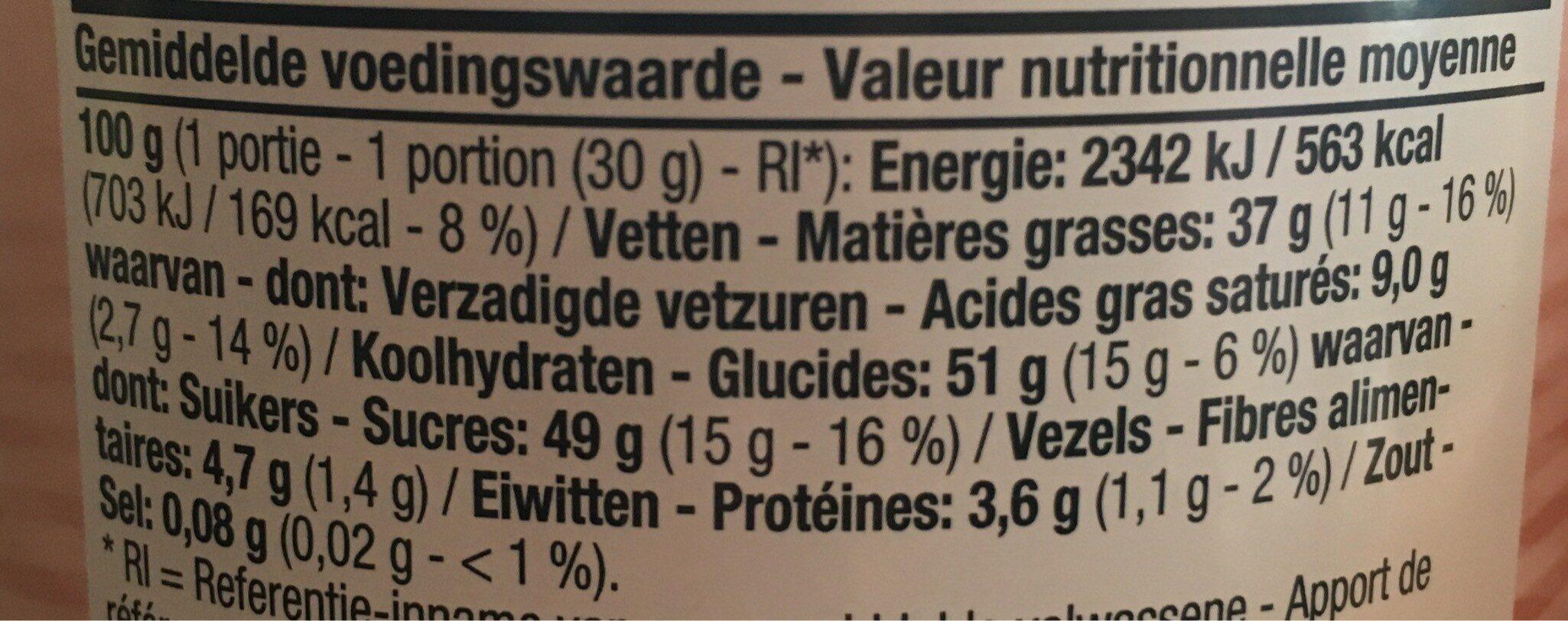 Pate a taerindr choco - noir - Voedingswaarden - fr